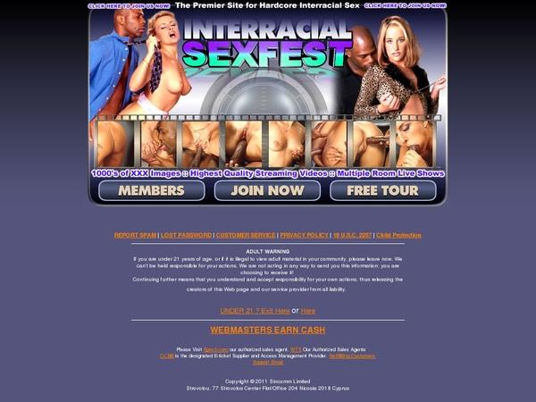 Interracialsexfest.com Account Paypal