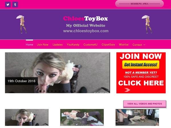 Chloestoybox.com Checkout Form