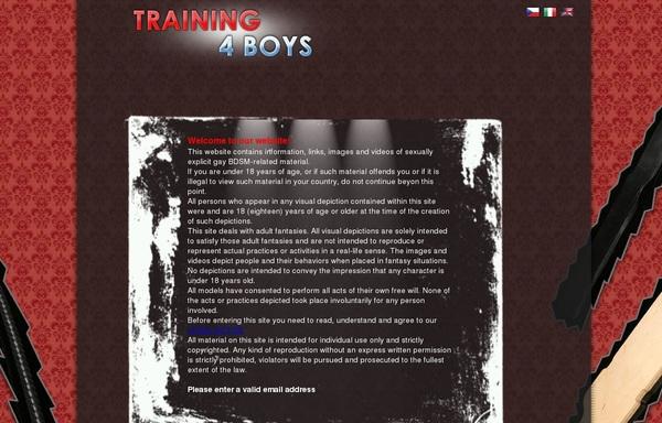 Training 4 Boys Full Website