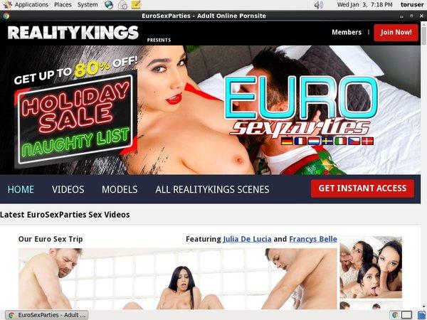Euro Sex Parties Accounts Free