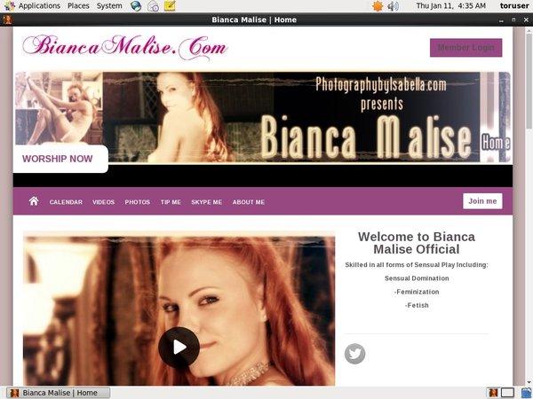 Biancamalise.modelcentro.com Sign Up Form